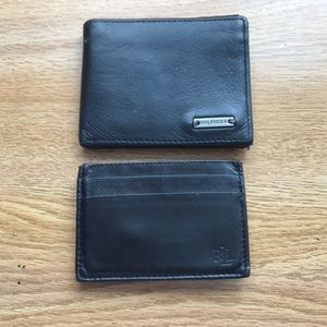 Polo money clip and Tommy Hilfiger wallet